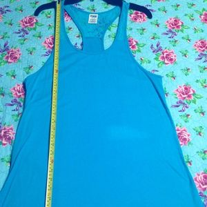 Bright Turquoise Blue Racerback Tank Tunic
